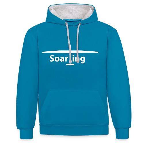 Soaring (premium quality) - Kontrast-Hoodie