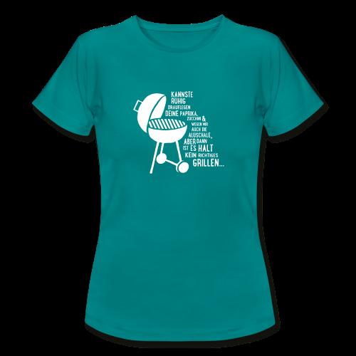 kein richtiges Grillen - Damen T-Shirt - Frauen T-Shirt