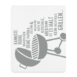 kein richtiges Grillen - Mousepad - Mousepad (Hochformat)