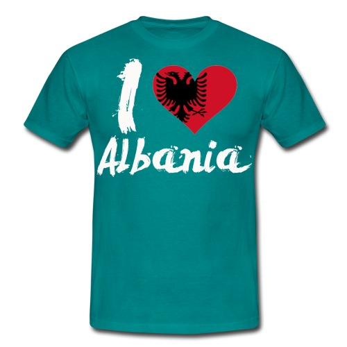 I LOVE Albania - Männer T-Shirt