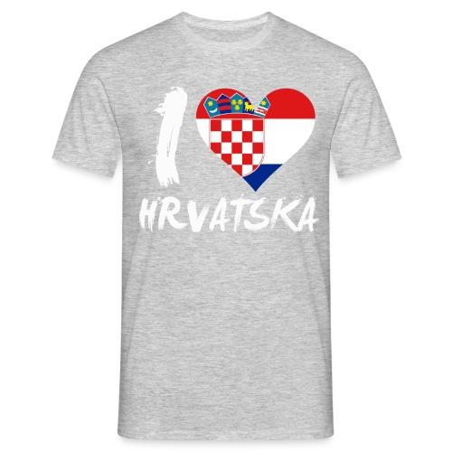 I LOVE Hrvatska - Männer T-Shirt