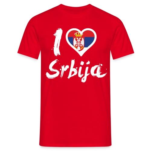 I LOVE Srbija - Männer T-Shirt