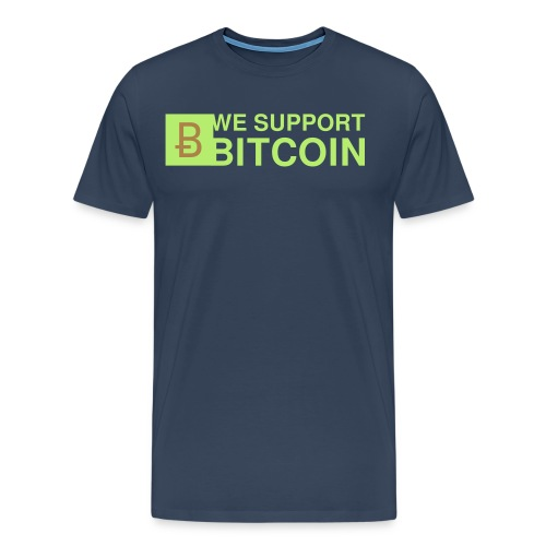 WE SUPPORT BITCOIN - Männer Premium T-Shirt