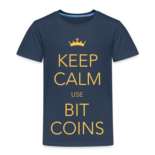 KEEP KALM USE BITCOINS - Kinder Premium T-Shirt