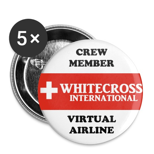 Whitecross VA Stickers - Buttons large 56 mm