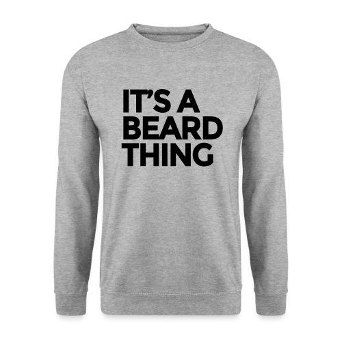 It's A Beard Thing Grey Sweater  - Mannen sweater