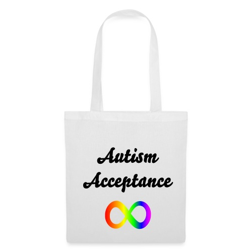 'Autism Acceptance' Infinity Tote Bag - Tote Bag