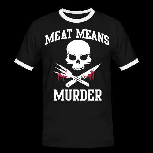 MEAT MEANS MURDER - Männer Kontrast-T-Shirt