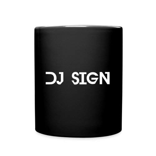 DJ Sign Tasse Black - Tasse einfarbig
