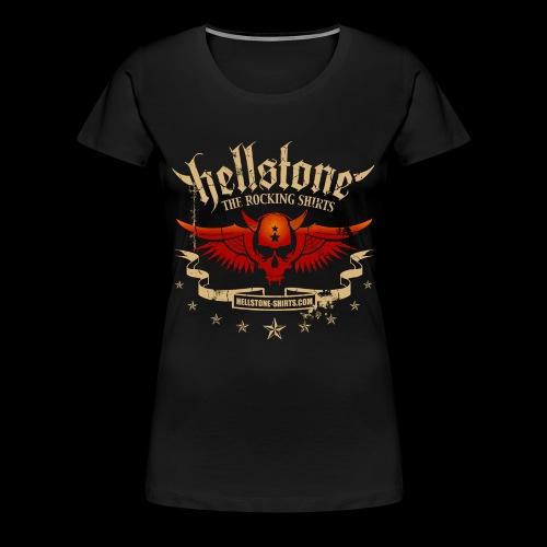 Hellstone DevilScull Wings - Frauen Premium T-Shirt