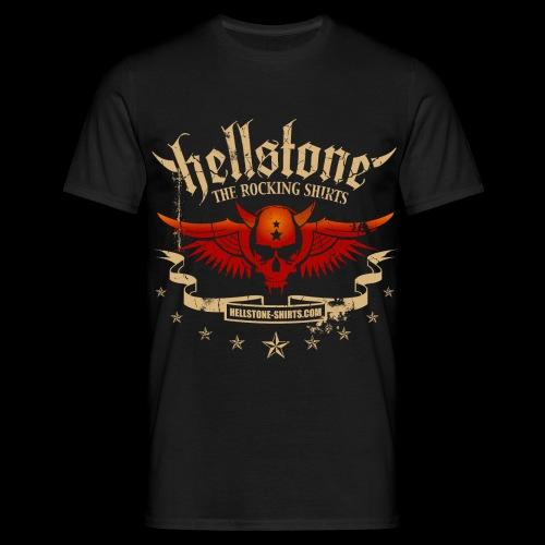 Hellstone Devil Scull Wings - Männer T-Shirt