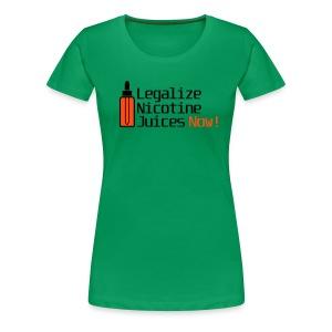 Legalize nicotine juices - T-shirt Premium Femme