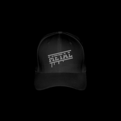 METAL SILBER GLITZER TEXT - Flexfit Baseballkappe