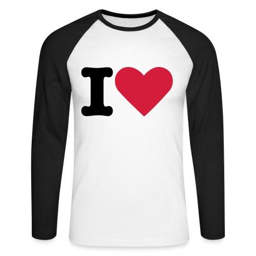 Tee-Shirt / Manche longue / Style Baseball / Homme - T-shirt baseball manches longues Homme