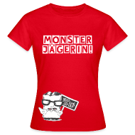 T-Shirts ~ Frauen T-Shirt ~ T-Shirt Monsterjägerin