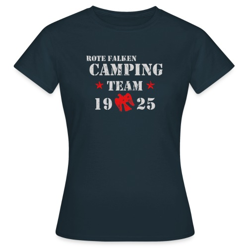 T-Shirt Camping Team (female) - Frauen T-Shirt