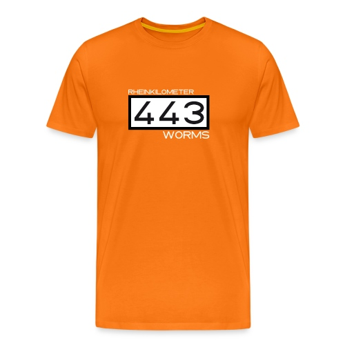 Rheinkilometer 443: Worms-Shirt - Männer Premium T-Shirt