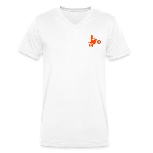 Moto T-Shirt - Männer Bio-T-Shirt mit V-Ausschnitt von Stanley & Stella
