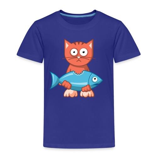 VL109B_Katze+Fisch_4c T-Shirts - Kinder Premium T-Shirt