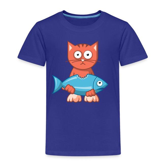 VL109B_Katze+Fisch_4c T-Shirts