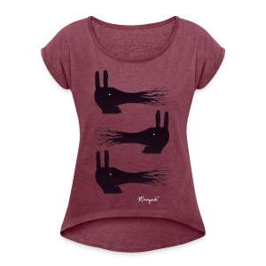Three Musketeers, Women's rolled sleeves - Women's T-shirt with rolled up sleeves