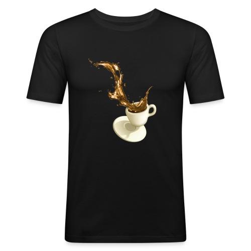 coffee cup desaster - Männer Slim Fit T-Shirt