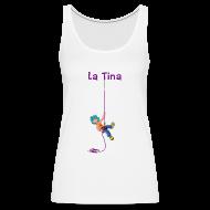 Tops ~ Camiseta de tirantes premium mujer ~ LA TINA RAPELANT (cat)