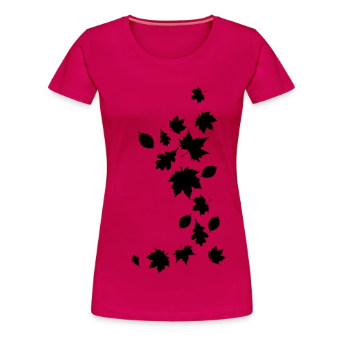 Frauen T-Shirt Herbstlaub Maple Leaf Baum Autumn Silhouette - Women's Premium T-Shirt