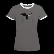 T-Shirts ~ Frauen Kontrast-T-Shirt ~ Artikelnummer 101941511