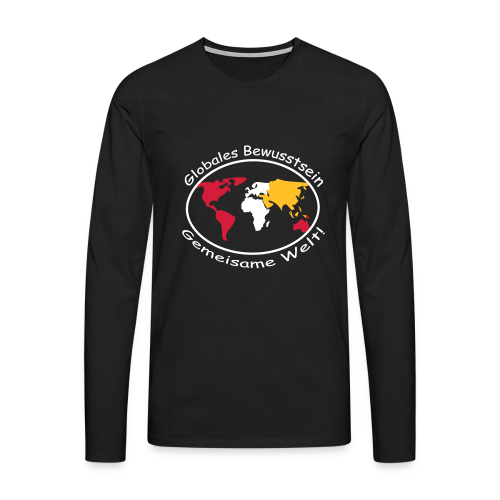 TIAN GREEN Long Shirt Men - Globales Bewusstsein - Männer Premium Langarmshirt