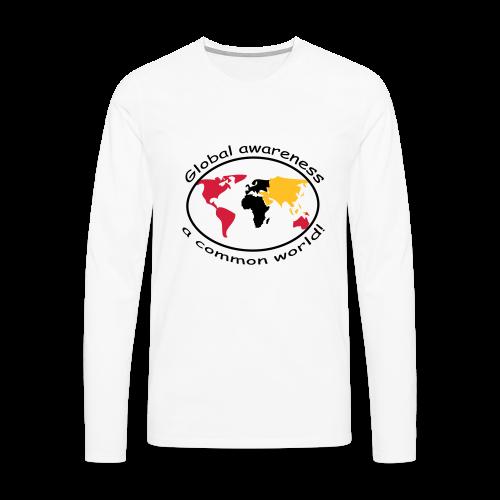 TIAN GREEN Long Shirt Men - Global awareness - Männer Premium Langarmshirt