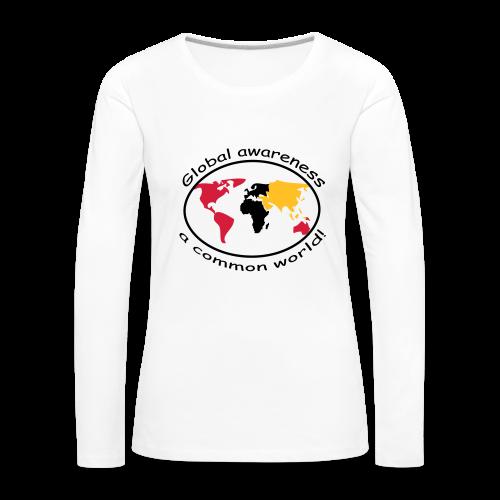 TIAN GREEN Long Shirt Women - Global awareness - Frauen Premium Langarmshirt
