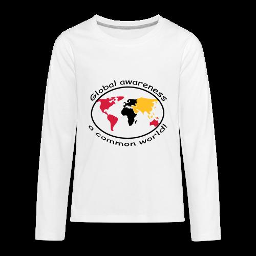 TIAN GREEN Long Shirt Teen - Global awareness - Teenager Premium Langarmshirt