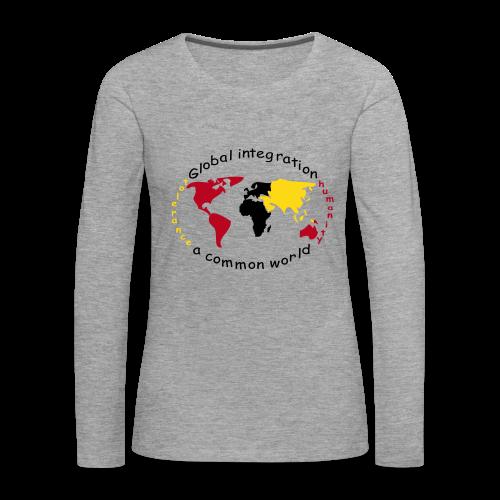 TIAN GREEN Long Shirt Women - Global Integration - Frauen Premium Langarmshirt