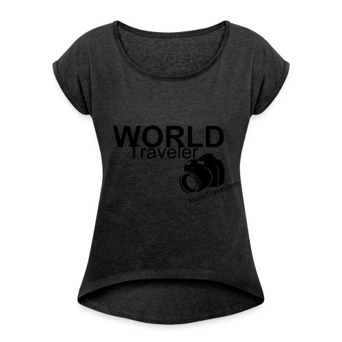 World traveler loose fit - Women's T-Shirt with rolled up sleeves