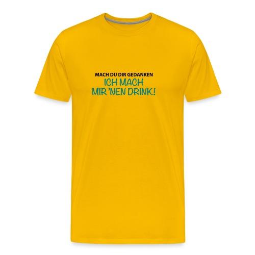 Männer T-Shirt Gedanken Drink Cocktail Bier - Men's Premium T-Shirt