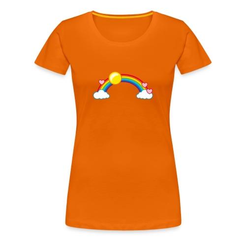 Frauen T-Shirt Regenbogen Rainbow Sonne Herzen - Women's Premium T-Shirt