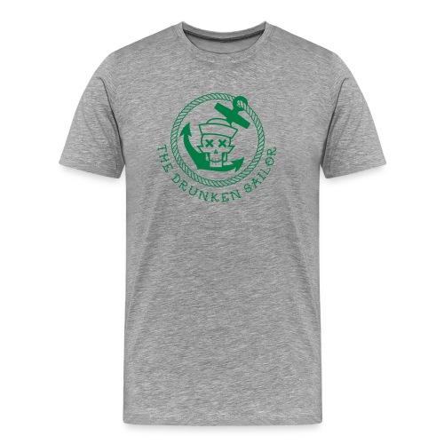 Drunken Sailor U neck - Rang Skipper - Männer Premium T-Shirt