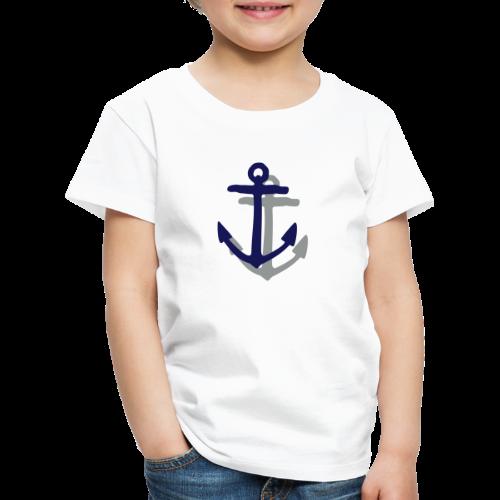 Anker mit Schatten (Navy) Kinder T-Shirt - Kinder Premium T-Shirt