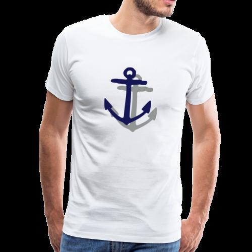 Anker mit Schatten (Navy) S-5XL T-Shirt - Männer Premium T-Shirt