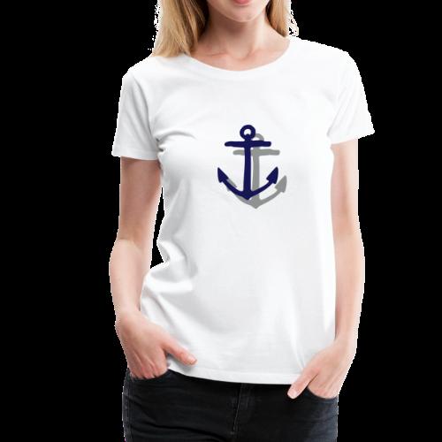 Anker mit Schatten (Navy) S-3XL T-Shirt - Frauen Premium T-Shirt