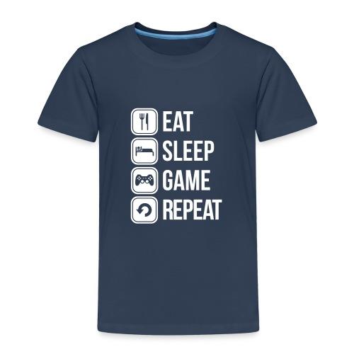 Eat Sleep Game Repeat Tee - Kids' Premium T-Shirt