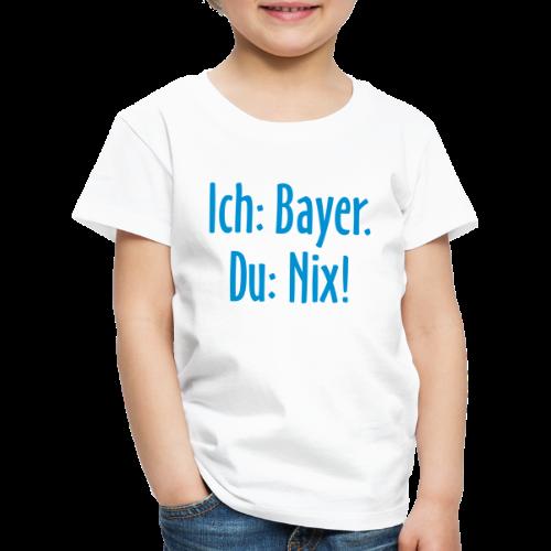 Lustiges Bayern T-Shirt für Kinder (Weiß/Blau) - Kinder Premium T-Shirt