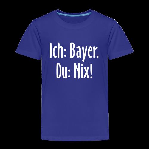 Lustiges Bayern Kinder T-Shirt (Blau/Weiß) - Kinder Premium T-Shirt