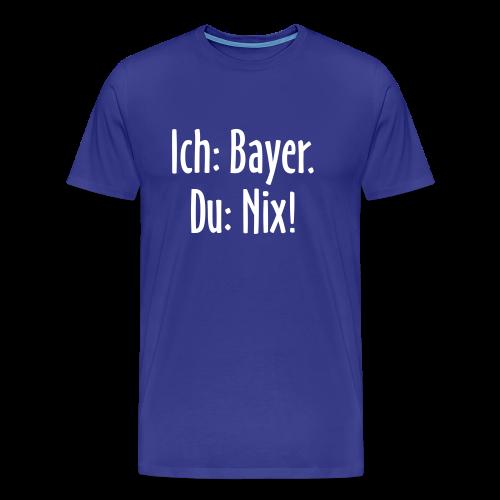 Lustiges Bayern T-Shirt (Herren Blau/Weiß) - Männer Premium T-Shirt