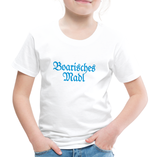 Boarisches Madl Kinder T-Shirt (Weiß/Blau) - Kinder Premium T-Shirt