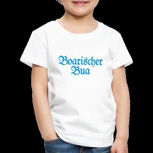 Boarischer Bua Kinder T-Shirt (Weiß/Blau) - Kinder Premium T-Shirt