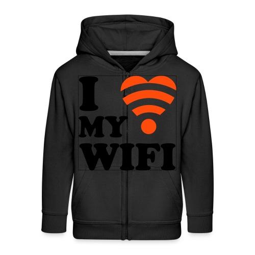 I Love Wifi - Kids' Premium Zip Hoodie