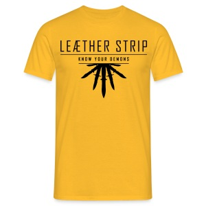 Leaether Strip - Know Your Demons : T-Shirt - yellow - Men's T-Shirt