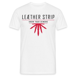 Leaether Strip - Know Your Demons : T-Shirt - white - Men's T-Shirt